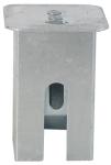Abdeckkappe für Bodenhülse 70 x 70 mm, mit Federverschluss, Vierkant