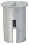 Abdeckkappe für Bodenhülse mit Federverschluss Ø 76 mm