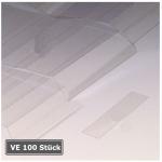 Abdeckungen f&uuml;r Permaflex C-Profile, VE 100 St&uuml;ck (Ma&szlig;e (BxH)/Verpackungseinheit:  <b>60 x 10 mm</b>/VE 100 Stk. (Art.Nr.: 90.3094))