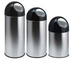 Abfallbeh&auml;lter -Bullet Bin- 30, 40 oder 55 Liter aus Edelstahl, wahlweise mit Innenbeh&auml;lter (Volumen/Modell/Ma&szlig;e (&Oslash;xH&ouml;he): 30 Liter/ <b>ohne Innenbeh&auml;lter</b><br>305x540mm (Art.Nr.: 16486))
