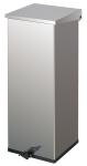 Abfallbeh&auml;lter -Carro-Kick- 55 oder 110 Liter aus Edelstahl, mit Pedal, feuerfest (Volumen/Ma&szlig;e (HxBxT):  <b>55 Liter</b>/600x300x300mm (Art.Nr.: 17391))