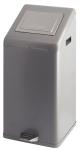 Abfallbehälter -Carro-Kick Push- 50 Liter aus Aluminium, mit Pedal, feuerfest (Farbe: schwarz (Art.Nr.: 17400))