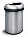 Abfallbehälter -Open Top Semi- Simplehuman, 60 Liter aus Edelstahl