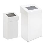 Abfallbeh&auml;lter -P-Bins 11- 18 oder 50 Liter aus Aluminium, mit Pushdeckel, feuerfest (Volumen/Ma&szlig;e (HxBxT):  <b>18 Liter</b>/500x277x170mm (Art.Nr.: 16716))