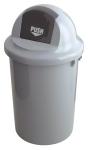 Abfallbeh&auml;lter -P-Bins 2- 47, 60 oder 90 Liter aus Kunststoff, mit Push-Deckel (Volumen/Ma&szlig;e (&Oslash; x H&ouml;he):  <b>47 Liter</b>/410x780mm (Art.Nr.: 16402))