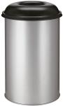 Abfallbehälter -P-Bins 32- 200 Liter aus Stahl, selbstlöschend (Farbe: aluminium (Art.Nr.: 17696))