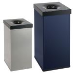 Abfallbeh&auml;lter -P-Bins 33- 55 oder 110 Liter aus Aluminium, selbstl&ouml;schend (Volumen/Ma&szlig;e (HxBxT)/Farbe:  <b>55 Liter</b>/600x300x300mm<br>schwarz (Art.Nr.: 17697))