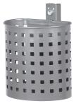Abfallbehälter -State Florida- halbrund, 20 Liter - gelocht (Farbe: verzinkt, ohne Farbe (Art.Nr.: 10201-1))