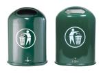 Abfallbehälter -State Hawaii- 45 Liter, Stahl, mit Bodenentleerung, offen oder mit Federklappe