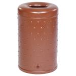 Abfallbehälter -State Indiana- mit Bodenentleerung, rund, 50 Liter - mit Noppenblech (Farbe: ohne Farbe (Art.Nr.: 10229-1))