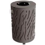 Abfallbehälter -Torrance- 80 Liter aus Stahl (Farbe: RAL 3004 purpurrot (Art.Nr.: 22530))