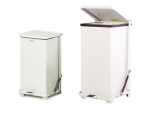 Abfallcontainer -Defender- Rubbermaid 45 oder 90 Liter aus Feinblech, feuerfest / selbstlöschend