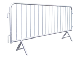 Absperrgitter -Event- aus Stahl, Länge 2500 mm, mit angeschweißten Schrägfüßen