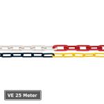 Absperrkette aus Kunststoff, VE 25 Meter, &Oslash; 6 mm oder 8 mm (St&auml;rke/Farbe/Verpackungseinheit: 6mm/ <b>rot-wei&szlig;</b>/VE 25 Meter (Art.Nr.: 430.05))