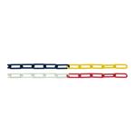 Absperrkette, diverse Varianten, Länge 10 - 30 Meter (Durchmesser/Farbe/Länge/Material: 6 mm, rot-weiß, 30 m, Kunststoff (Art.Nr.: 18637))
