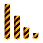 Anfahrschutz -Solid- aus Stahl, 90&deg; Winkel, nach BGR 234 und DIN 4844 (H&ouml;he/Materialst&auml;rke:  <b>200 mm</b> / 5 mm (Art.Nr.: 477.84b))