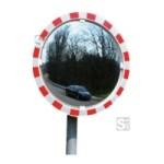 Anti-Beschlag-Spiegel, ohne elektr. Einrichtung, für Ø 76 mm Pfosten (Maße: Ø 600 mm (Art.Nr.: 15328))