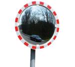 Anti-Beschlag-Spiegel, ohne elektr. Einrichtung, für Ø 76 mm Pfosten (Durchmesser: Ø 600 mm (Art.Nr.: 15328))
