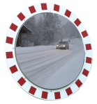 Anti-Frost /Anti-Beschlag Spiegel Vialux®, ohne elektr. Einrichtung (Durchmesser/Max. Beobachterabstand/Gewicht: Ø 600 mm/ca. 11m/23 kg (Art.Nr.: 32837))