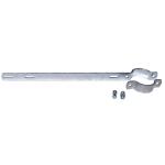 Auslegerhalterung, f&uuml;r Rohrpfosten mit &Oslash; 60 oder 76 mm (Rohrma&szlig;e &Oslash; / Lochabstand: 60 mm /  <b>280 mm/ 350 mm <b> (Art.Nr.: 90.2816))