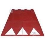 Berliner Kissen Komplett-Set, 3000 x 1800 x 65 mm, &lt,30 km / h, mit Montagemat., in rot oder schwarz (Farbe: rotbraun (Art.Nr.: 34795))