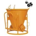 Betonsilo -B1011-, Auslauf gerade, Patentverschluss, 150-1000 Liter, Handhebel oder Handrad
