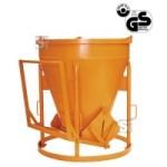Betonsilo -B1012-, Auslauf gerade, Patentverschluss, 500-2000L, Handhebel oder -rad, extra schwer