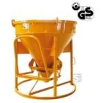 Betonsilo -B1016-, Auslauf gerade (Schlauchanschluss), Patentverschluss, 150-4000 Liter