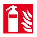 Brandschutzschild, Feuerlöscher (Maße (BxH)/Material: 100x100mm/Folie,selbstklebend,nicht langnachl. (Art.Nr.: 21.a5005))