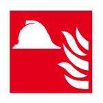 Brandschutzschild, Mittel und Ger&auml;te zur Brandbek&auml;mpfung (Ma&szlig;e(BxH)/Material: 150x150mm/Folie<br>selbstklebend,nicht langnachl. (Art.Nr.: 21.a5180))