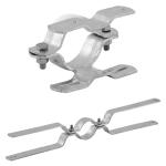 Doppel-Rohrschellen für Flach-VZ, inkl. Schrauben und Muttern (Lochabstand / Ø Pfosten: 70mm/Ø 60mm (Art.Nr.: r-d107))