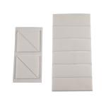 Doppelseitige Klebepads, verschiedene Modelle (Ausf&uuml;hrung: Bogen mit 4 Pads<br>(Dreieck-Form, SL 40 mm) (Art.Nr.: 90.9129))