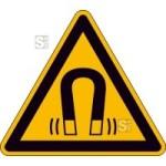 Elektrokennzeichnung / Warnschild, Warnung vor magnetischem Feld (Maße (SL)/Material/Variante: 100mm/Folie,selbstklebend (Art.Nr.: 21.a8162))