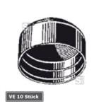 Ersatz-Rohrkappen f&uuml;r Rohrpfosten, VE 10 St&uuml;ck (Durchmesser/Verpackungseinheit:  <b>&Oslash; 60 mm</b>/VE 10 Stk. (Art.Nr.: ka060-ve))