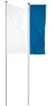 Fahnenmast -ZE 75-, zylindrisch, Ø 75 mm aus Edelstahl, Höhe 6-8 m, TÜV, GS-geprüfte Sicherheit