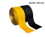 Fahrbahnmarkierungsfolie Dünnschicht, Breite 150 mm, BAST-geprüft, reflektierend, selbstklebend (Farbe: gelb (Art.Nr.: 3m150g))