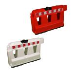 Fahrbahnteiler (Schrammborde) -Arizona- 1000 x 400 x 600 mm, aufdübelbar (Farbe: rot (Art.Nr.: 34826))