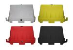 Fahrbahnteiler (Schrammborde) -New Texas-, stapelbar (Farbe: weiß (Art.Nr.: 33880))