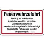 Feuerwehrzufahrt §22 VVB