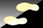 Fußabdrücke, vollflächig, langnachleuchtend (Richtung: rechter Fußabdruck (Art.Nr.: 17.7654))