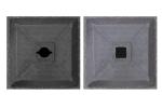 Fußplatte D80, mit Öffnung für D-System oder 60 x 60 mm, ohne BASt-Prüfung (Öffnung: für 60x60 mm (Art.Nr.: 18482))