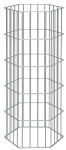 Gabionen-Säule -Onyx-, sechseckig (Höhe: 1000 mm (Art.Nr.: 24531))
