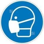 Gebotsschild, Maske benutzen (Maße Ø/Material: 200mm/Folie,selbstklebend (Art.Nr.: 21.a7305))