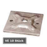 Gegenplatte / Unterlagsplatte, VE 10 Stück, für Stahlgurte 120x120x10mm und Ankerstab Ø 15mm