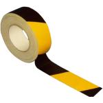 Gewebe-Bodenmarkierungsband -Strong Plus-, schwarz / gelb, Rolle 50 m, für vertikale Innenflächen (Breite: 50 mm (Art.Nr.: 24111))