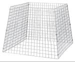 Groß-Abfallbehälter / Anpflanzschutz, 650 Liter aus Drahtgitter, konisch (Randdraht: 4 mm (Art.Nr.: 10094))