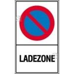 Haltverbotsschild, Eing. Halteverbot, Ladezone (Maße (BxH)/Material: 150x250mm/Kunststoff (Art.Nr.: 41.5153))