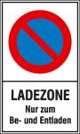 Haltverbotsschild, Eing. Halteverbot, Ladezone nur zum Be- und Entladen (Maße (BxH)/Material: 250x400mm/Kunststoff (Art.Nr.: 41.5165))