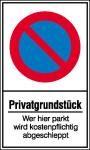 Haltverbotsschild, Eing. Halteverbot, Privatgrundstück Wer hier parkt ... (Maße (BxH)/Material: 150x250mm/Kunststoff (Art.Nr.: 41.5162))