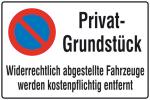 Haltverbotsschild, Eing. Halteverbot, Privatgrundstück Widerrechtlich ... (Material: geprägt (Art.Nr.: 11.5164))